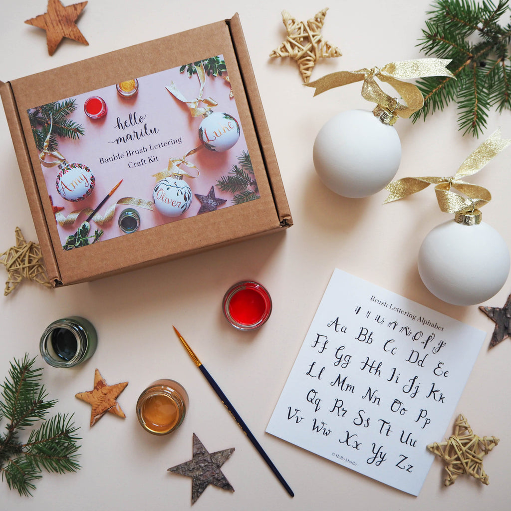 Bauble Brush Lettering Craft Kit