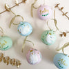 Dove Hand Illustrated Personalised ceramic bauble