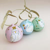 Owl Hand Illustrated Personalised ceramic baubles