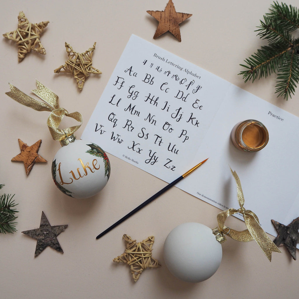 Bauble Brush Lettering Craft Kit & Workshops