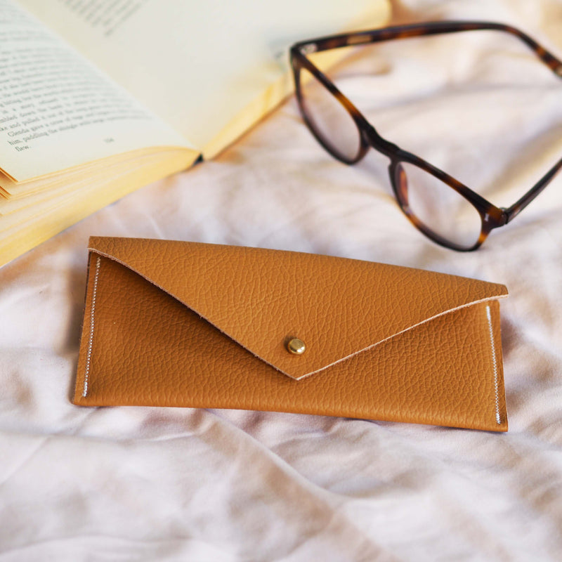 Ochre Leather Glasses Case