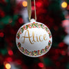 Hand Painted Personalised ceramic baubles