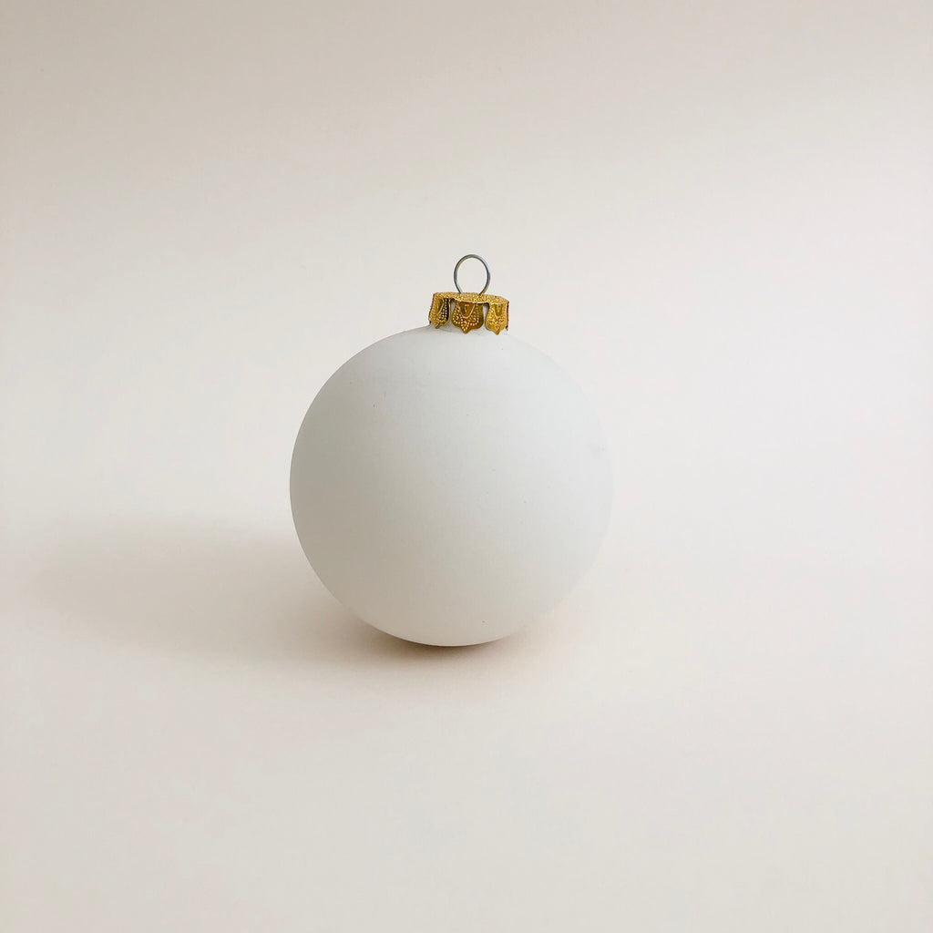 Ceramic bisque Large Christmas Bauble