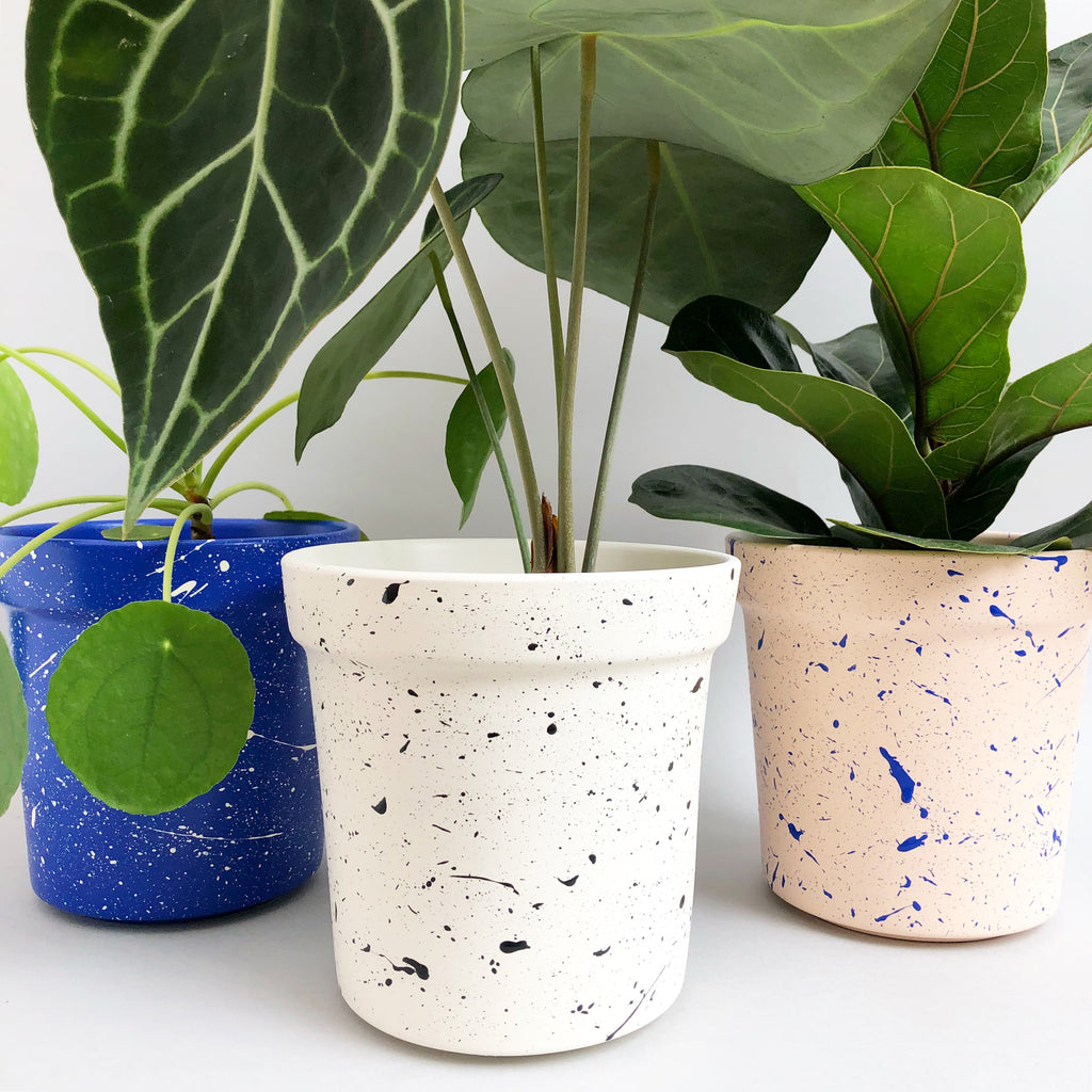 Large Splatter Plant Pots - Choose your colours