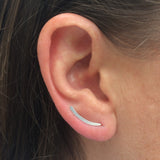 Smooth Sweep Silver Ear Climber