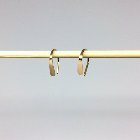 "1/2"" Gold Open Hoops"