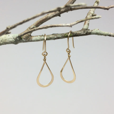 Small Gold Teardrop Earring