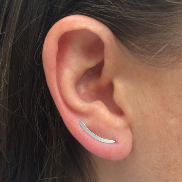 Silver Smooth Sweep Ear Climber