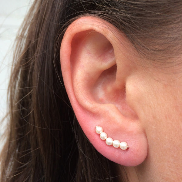 Ivory Pearl Sweep Ear Climber