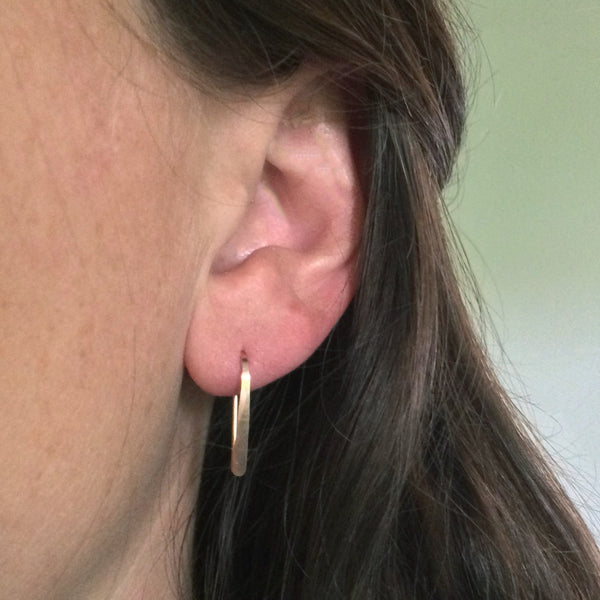 "3/4"" Rose Gold Open Hoops"