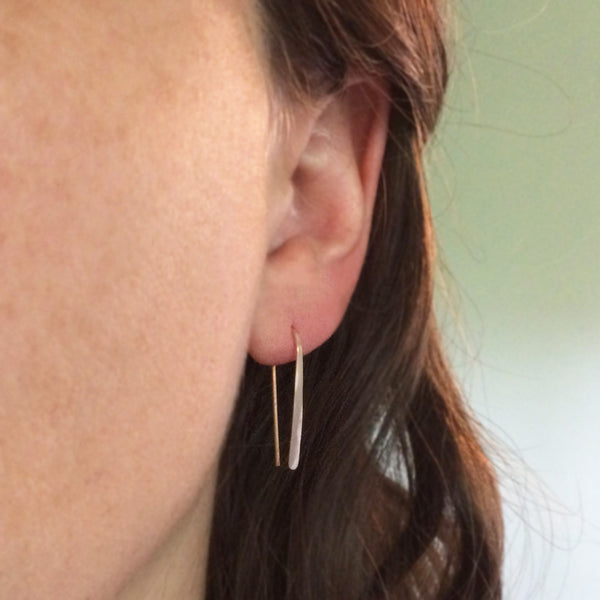 "1"" Rose Gold Open Hoop Earrings"
