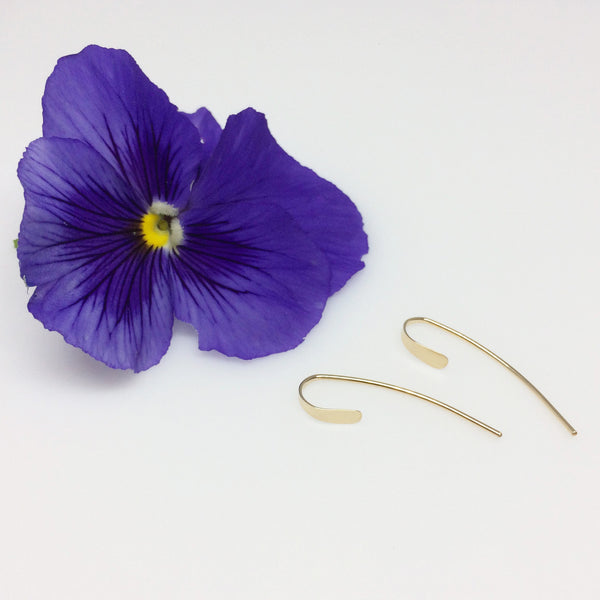 Gold Small Crescent Open Hoops