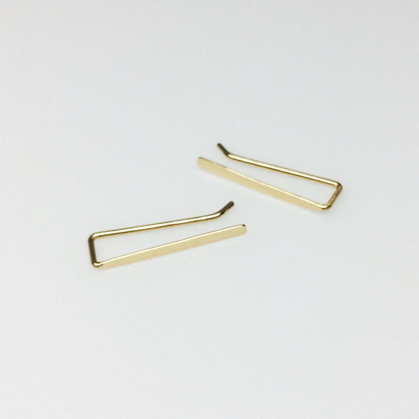 Gold Smooth Straight Ear Climber