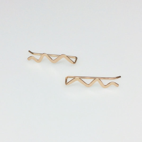 Rose Gold Scribble Ear Climber