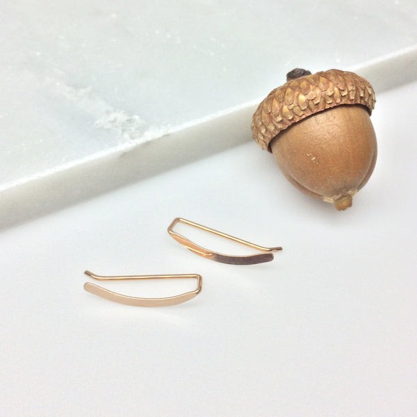 Rose Gold Smooth Sweep Ear Climber