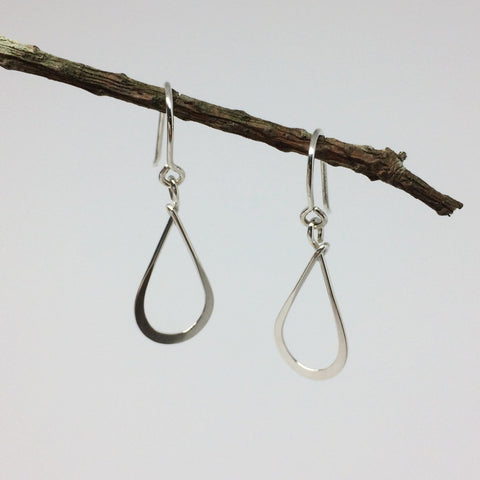 Small Silver Teardrop Earring
