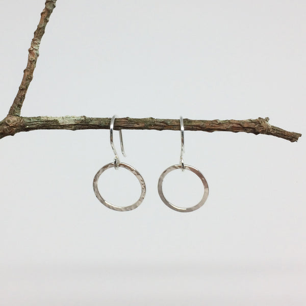 Small Circle Drop Hoops