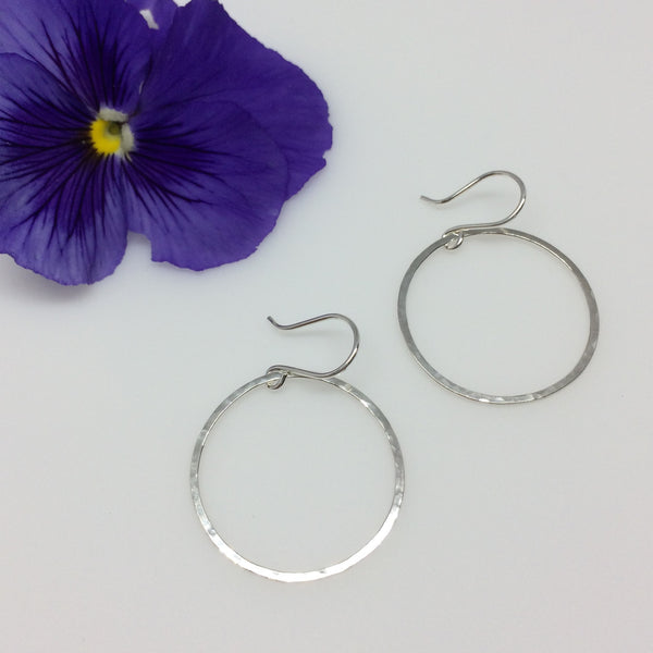 Medium Circle Drop Hoops