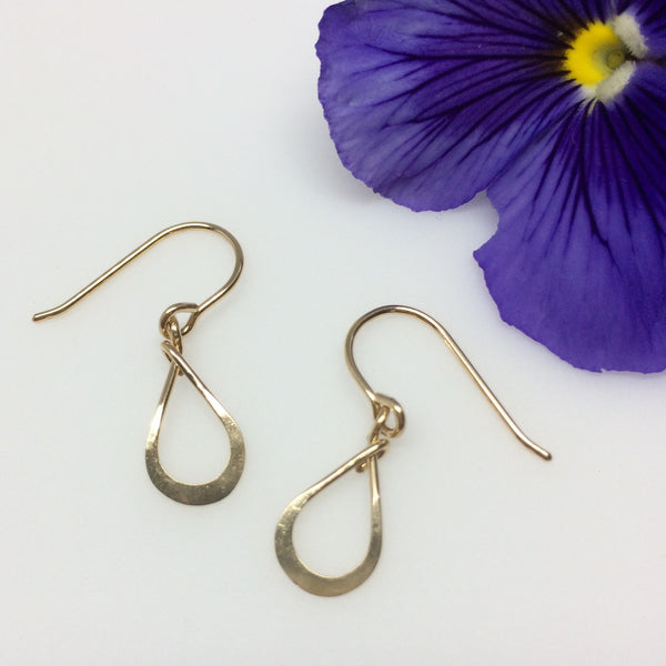 Tiny Gold Teardrop Earring