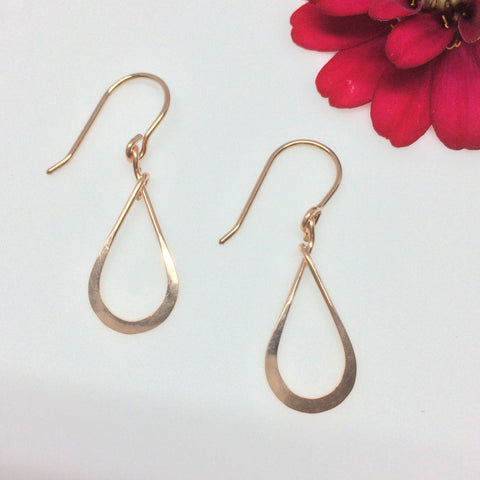 Small Rose Gold Teardrop Earring