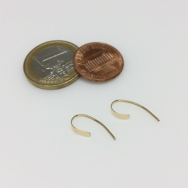 Tiny Gold Crescent Open Hoops