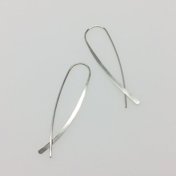 Silver Crossover Open Hoops