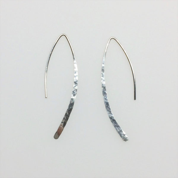 Sterling Silver Marquise Open Hoop Earrings