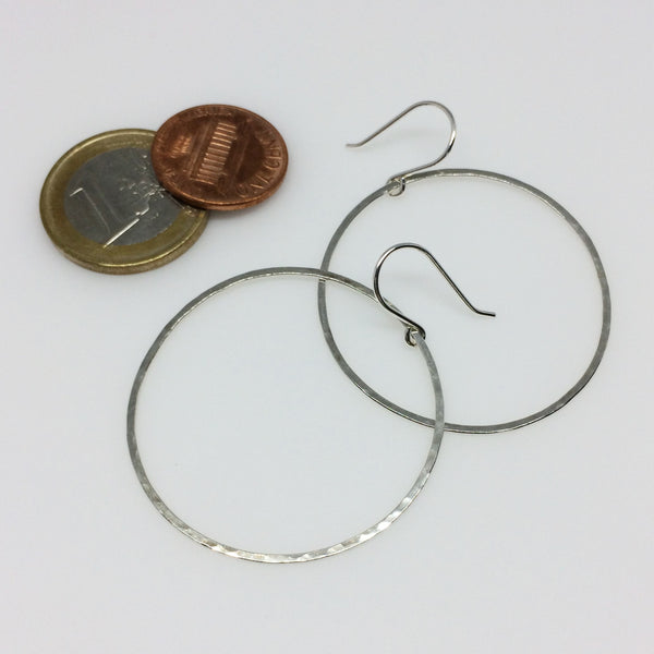 Large Circle Drop Hoops