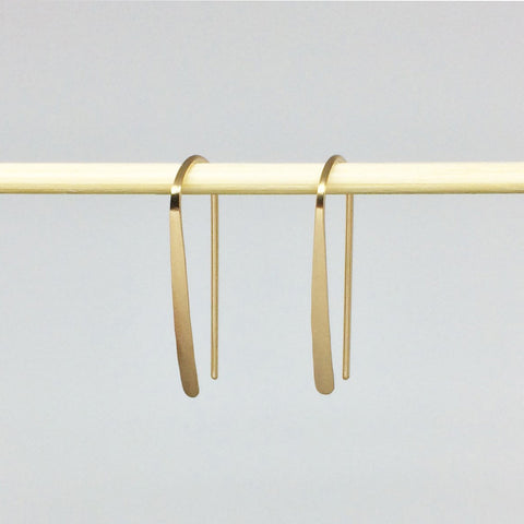"1"" Gold Open Hoop Earrings"