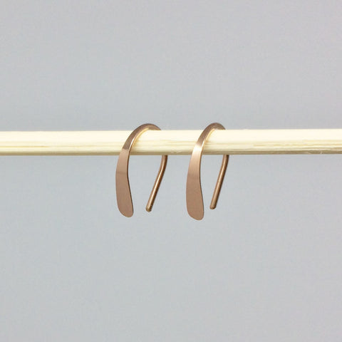 "1/2"" Rose Gold Open Hoops"