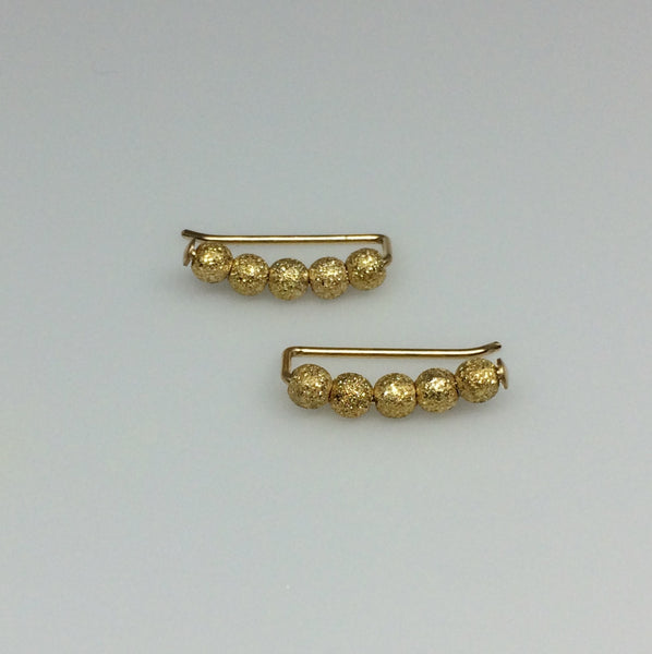 Gold Stardust Beaded Ear Climbers