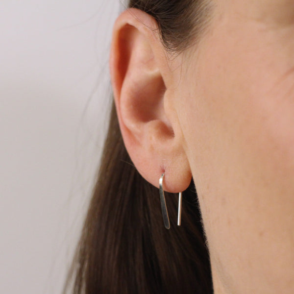 "3/4"" Sterling Silver Open Hoops"