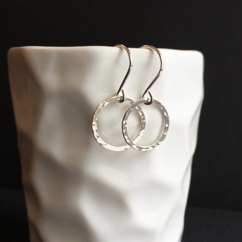 Small Circle Drop Hoops - Squirrel's Nest Jewelry - 1
