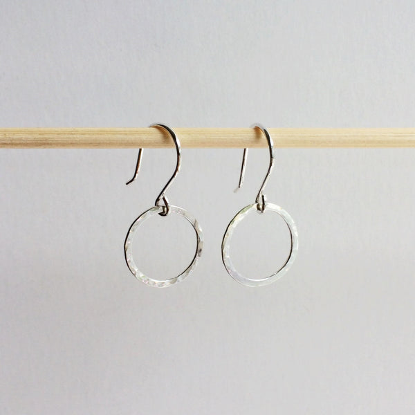 Small Circle Drop Hoops - Squirrel's Nest Jewelry - 2