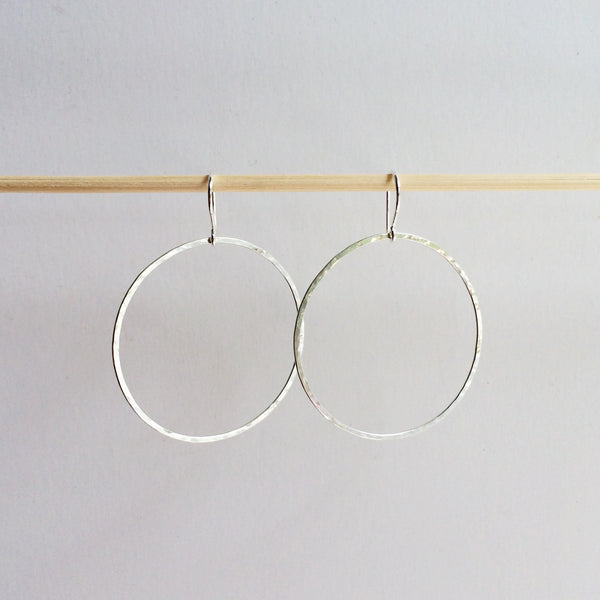 Large Circle Drop Hoops - Squirrel's Nest Jewelry - 2