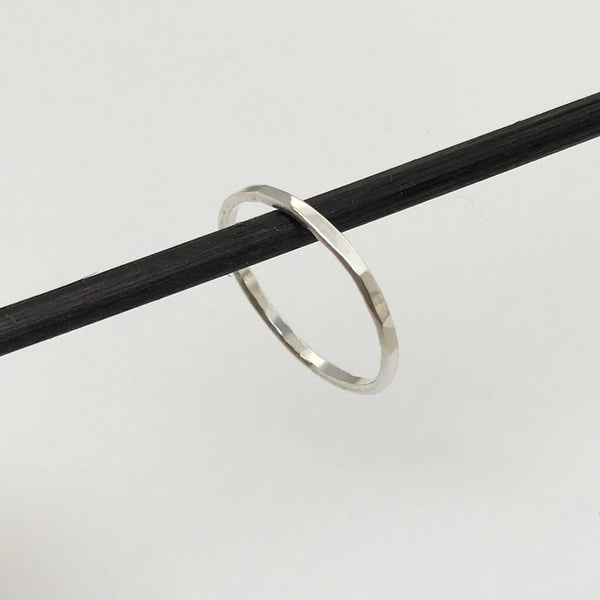 Super Skinny Hammered Sterling Silver Ring