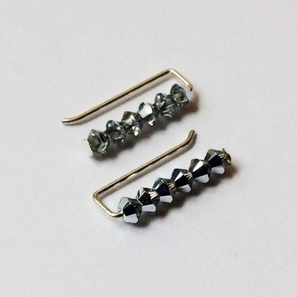 Swarovski Mirror Ball Ear Pins - Squirrel's Nest Jewelry - 1