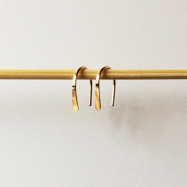 "1/2"" Gold Open Hoops - Squirrel's Nest Jewelry - 1"