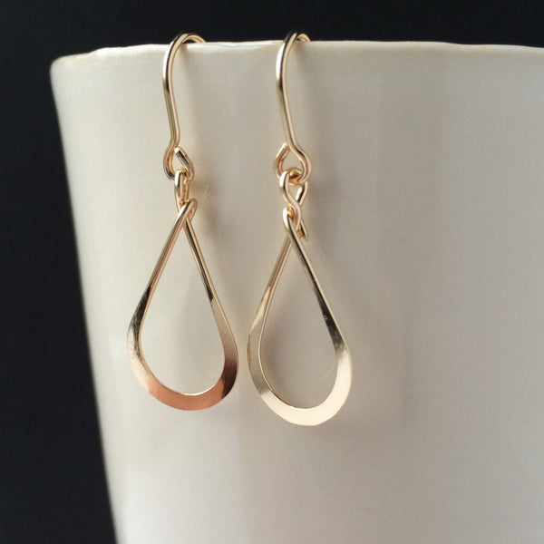 Small Gold Teardrop Earring - Squirrel's Nest Jewelry - 1