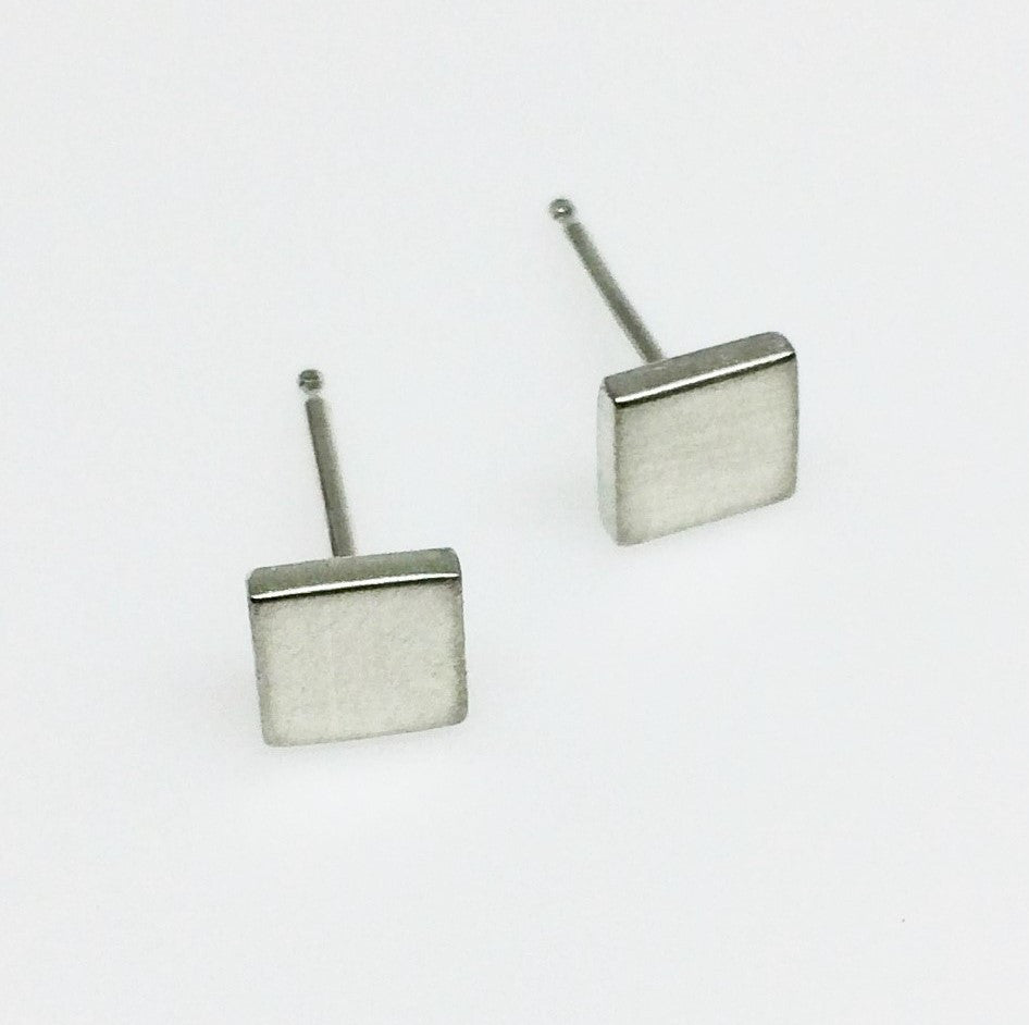 Square Studs - Squirrel's Nest Jewelry - 1