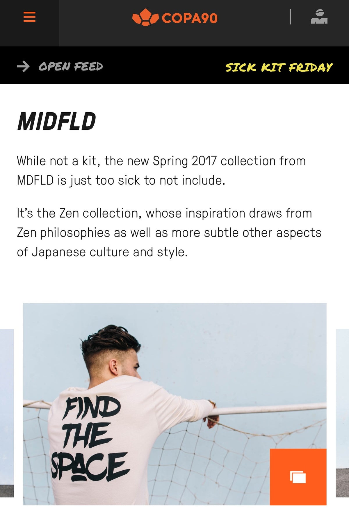 "MIDFLD Zen on Copa90 ""Sick Kit Friday"""
