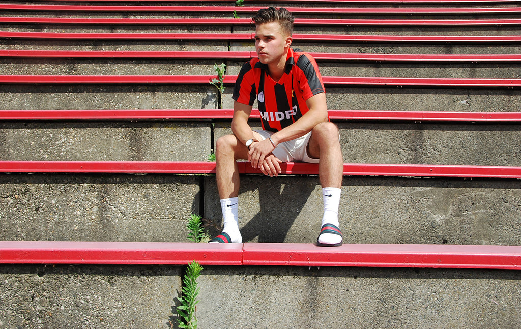 MIDFLD x Terrace Club AC Milan Inspired Jersey on NSS Magazine