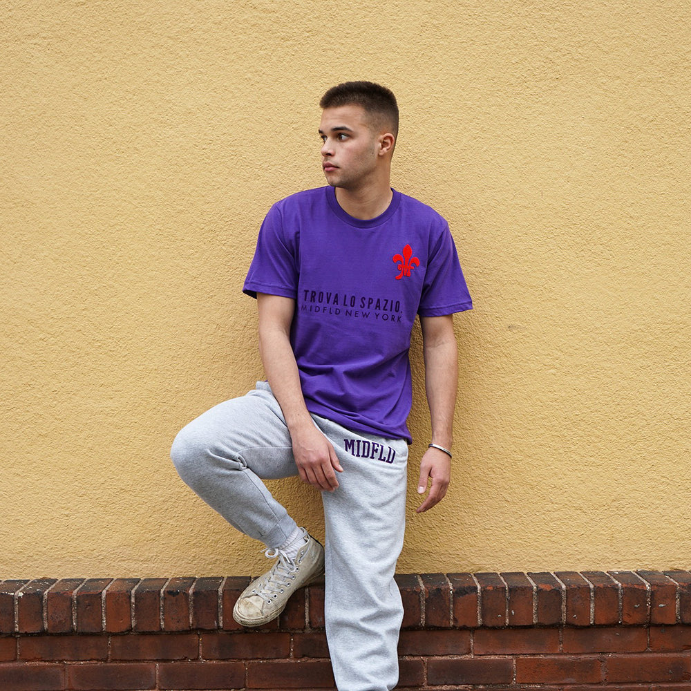 MIDFLD Trova Lo Spazio Short Sleeve T-shirt - Purple