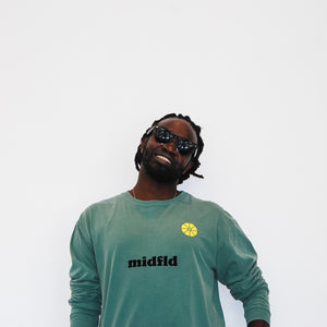 MIDFLD Coop Long Sleeve T-shirt - Light Green