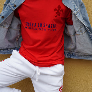 MIDFLD Trova Lo Spazio Short Sleeve T-shirt - Red