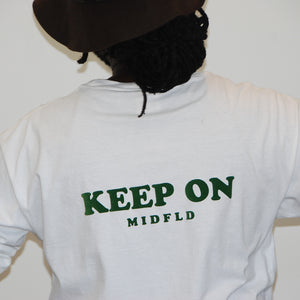 "MIDFLD ""Keep On"" Long Sleeve T-shirt - White"