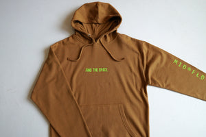 MIDFLD Find The Space Midweight Hoodie - Saddle Brown/Lime