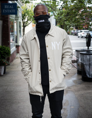 MIDFLD NY Find the space Coaches Jacket - Khaki