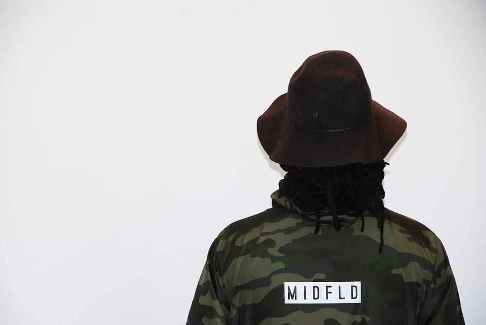 MIDFLD Get Up Camo Windbreaker