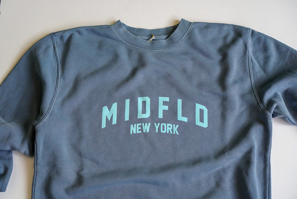 MIDFLD New York Dye Crewneck - Vintage Blue